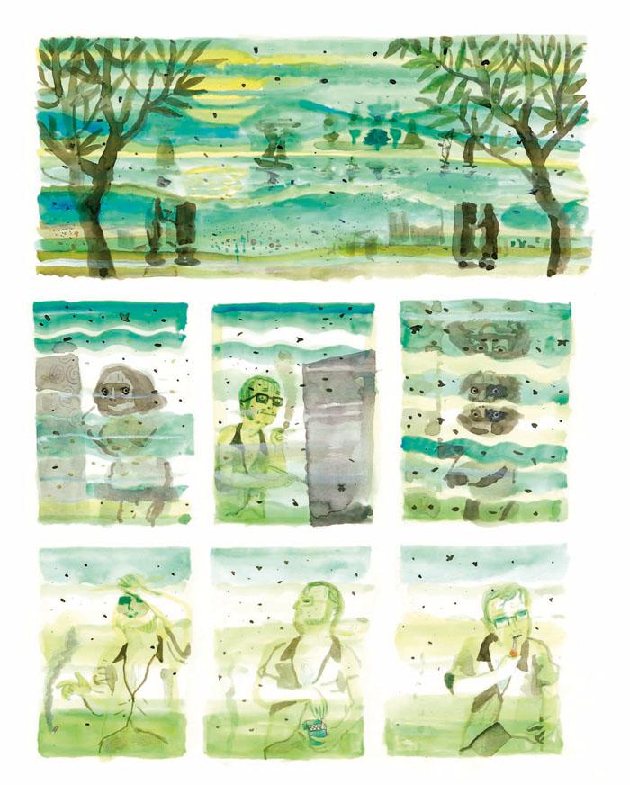 Les Amateurs - 2010-2011 encre de chine, encre aquarelle, gouache - 37 x 45 cm Réf. : Brecht081
