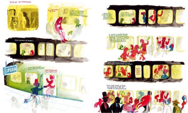 Les Noceurs - 2008-2009 encre de chine, encre aquarelle, gouache - 66 x 40 cm Réf. : Brecht103