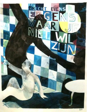 Les Noceurs - 2008-2009 encre de chine, encre aquarelle, gouache - 41 x 50 cm Réf. : Brecht109