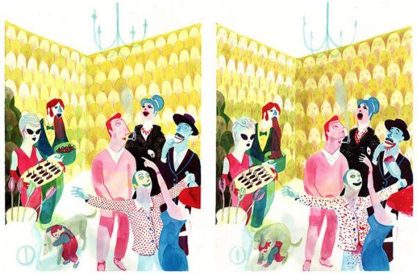 Utopie/Dystopie - 2009 encre de chine, encre aquarelle, gouache - 55 x 39 cm Réf. : Brecht127