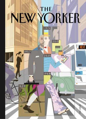 Richard McGuire, The New Yorker (cover) sérigraphie 100 exemplaires 48 x 66 cm - 220 €