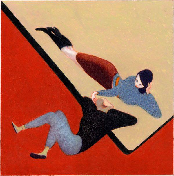 Lorenzo Mattotti - Stanze 6 sérigraphie, 100 exemplaires numérotés et signé, 65 x 65 cm