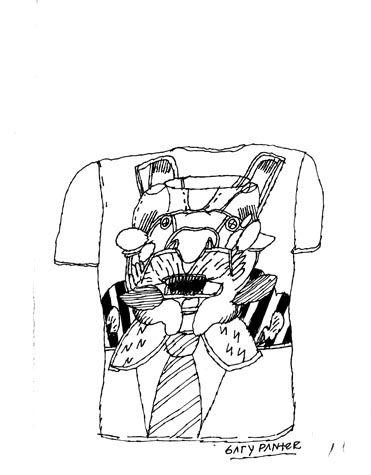T-Shirt sketch - 1971