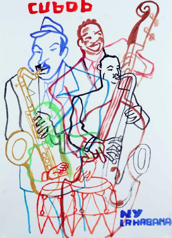 Chico & Rita - 2011 aquarelle sur papier - 50 x 70 cm -Réf. : Maris084