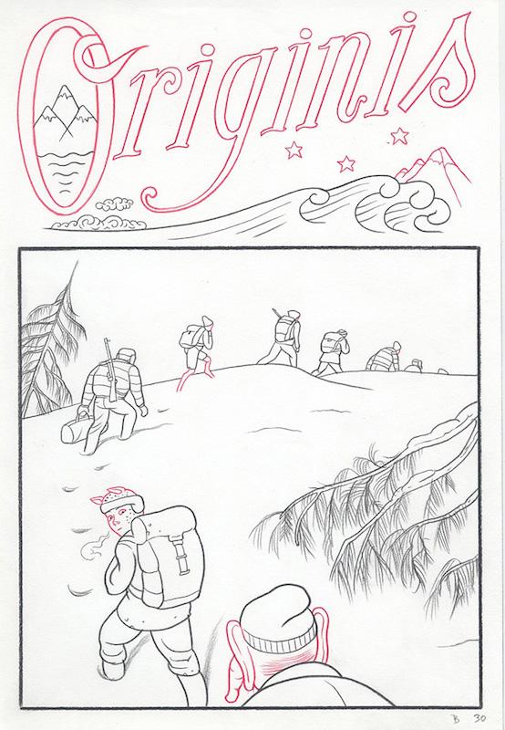 Epiphania (éd. Casterman) Tome 2, 2017 Crayon sur papier - 22 x 32 cm Réf. : debeurme20-004