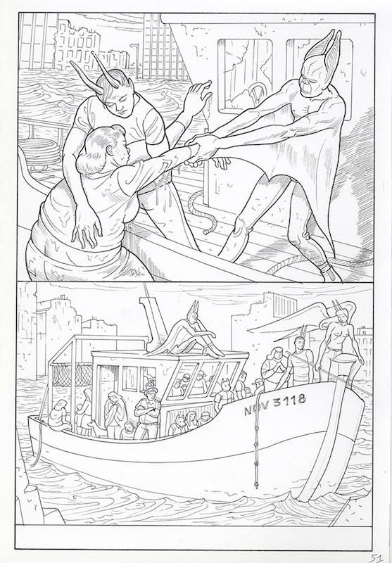 Epiphania (éd. Casterman) Tome 2, 2017 Crayon sur papier - 22 x 32 cm Réf. : debeurme20-015