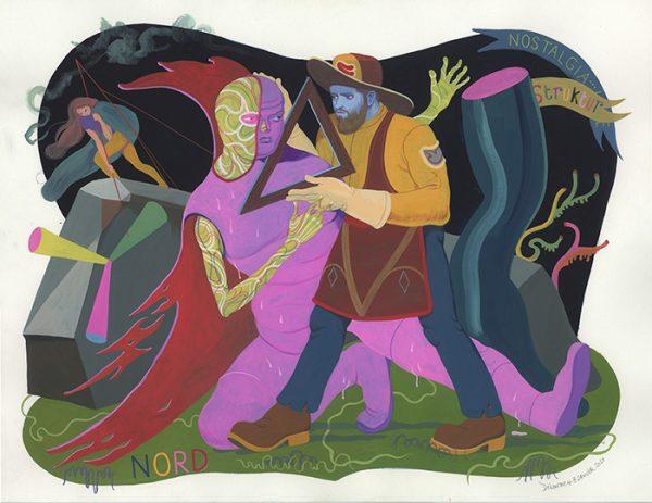 Inédit (éd. Casterman) - 8 janvier 2020 Gouache sur papier - 65 x 50 cm Réf. : debeurme20-024