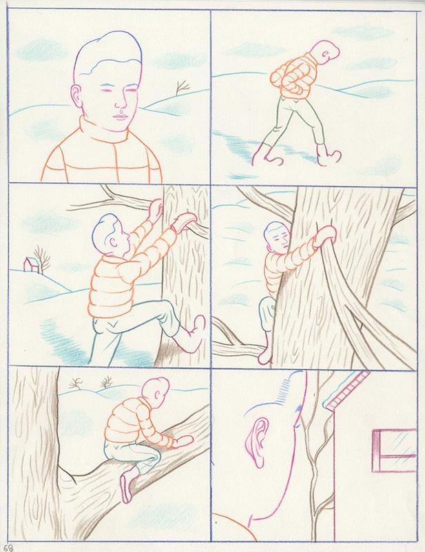 Un père vertueux (éd. Cornélius) 2014-2015 Crayon sur papier - 25 x 32 cm Réf. : debeurme20-025