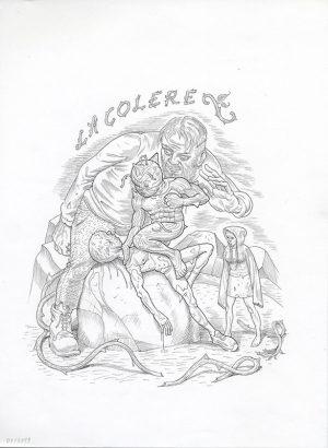 Les 7 péchés capitaux (Les arts dessinés) - 2019 Encre sur papier - 28 x 33 cm Réf. : debeurme20-029