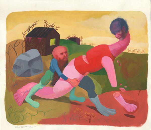 nédit - juin 2011 Gouache sur papier - 65 x 50 cm Réf. : debeurme20-038