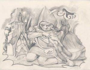 Inédit - décembre 2019 Crayon sur papier - 65 x 50 cm Réf. : debeurme20-039