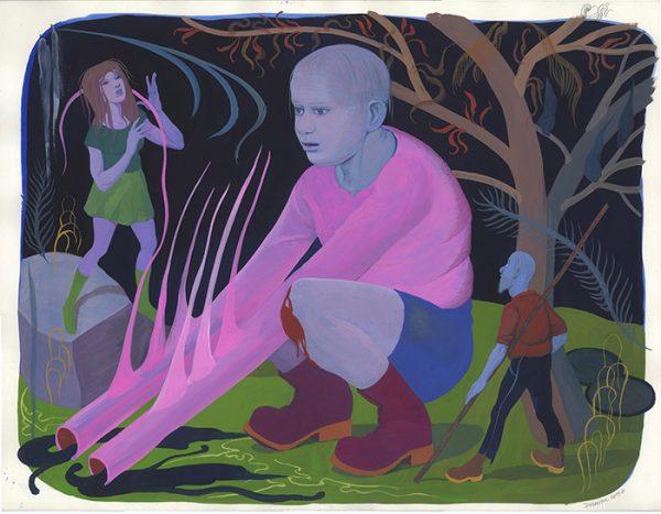 Inédit - 2019 Gouache sur papier - 65 x 50 cm Réf. : debeurme20-041