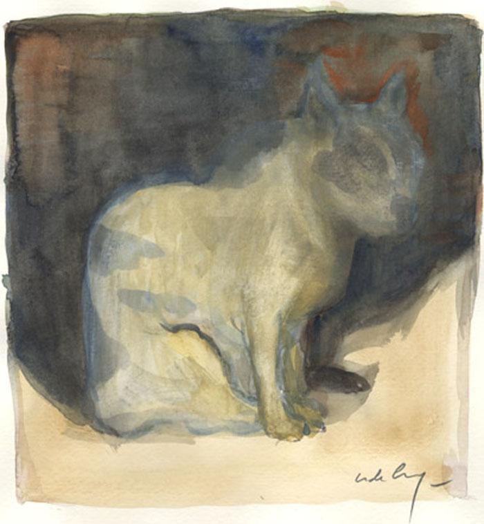 Au hasard de rues - 2008 aquarelle - 25,7 x 21 cm Réf. : crecy048