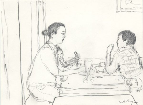 L'Independant Café, Gokomachi Sanjo - 2008 mine de plomb - 29 x 31 cm Ref. : crecy058