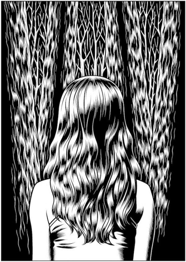 Charles Burns - Dédales, sérigraphie 100 exemplaires - 48,5 x 68,5 cm