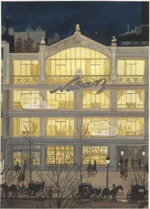 Les Variations d'Orsay - 2014 - 2015 gouache sur papier - 28 x 38 cm Ref. : fior018