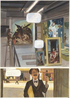 Les Variations d'Orsay - 2014 - 2015 gouache sur papier - 28 x 38 cm Ref. : fior020