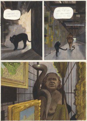 Les Variations d'Orsay - 2014 - 2015 gouache sur papier - 28 x 38 cm Réf. : fior023