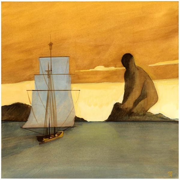 Uva di mare - Repubblica - 2014 38 x 28 cm gouache sur papier Réf: fior046