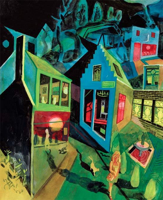 Brecht Evens, Les Amateurs #1 serigraphie - 48 x 60 cm Réf : brecht055 - épuisée