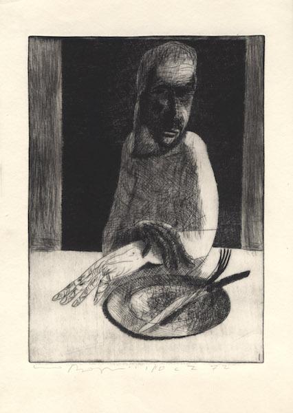 Gravure en taille-douce - 1972 Eau forte sur papier d'art Fabriano - copie unique réalisée par l'artiste 49 x 69 cm - Réf. : borgini002