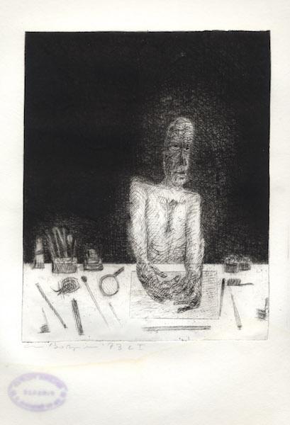 Gravure en taille-douce - 1973 Eau forte sur papier d'art Fabriano - copie unique réalisée par l'artiste 49 x 69 cm - Réf. : borgini004