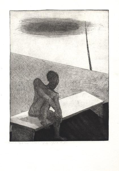 Gravure en taille-douce - 1974 Eau forte sur papier d'art Fabriano - copie unique réalisée par l'artiste 49 x 69 cm  - Réf. : borgini005