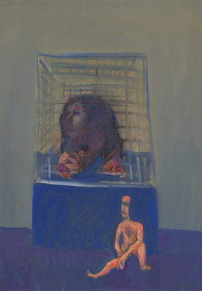 estia - 1972 Tempéra sur papier -  50 x 70 cm Réf. : borgini018