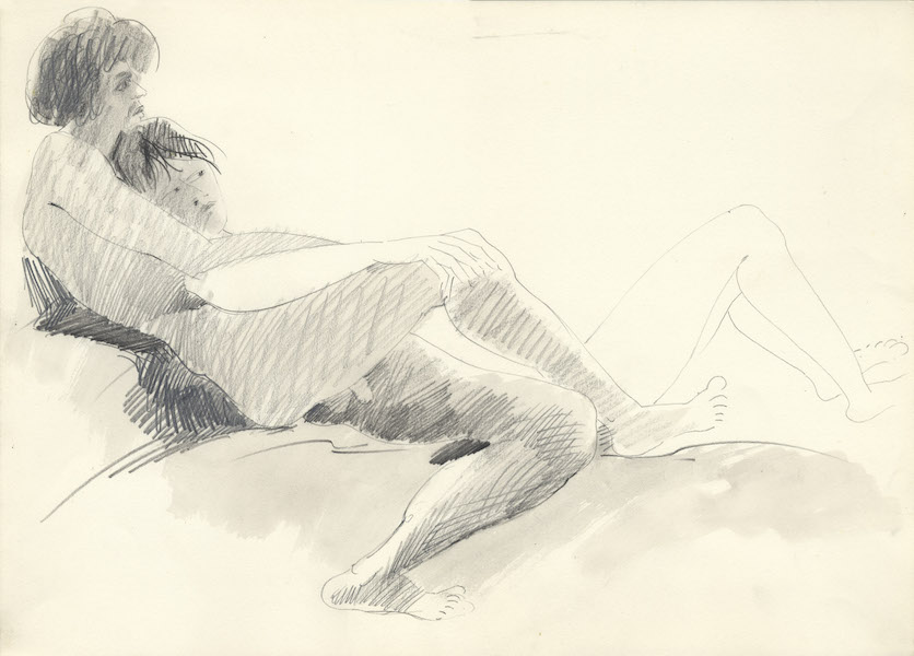 Donato e Alda - 1979 Crayon sur papier -  46 x 32 cm Réf. : borgini019