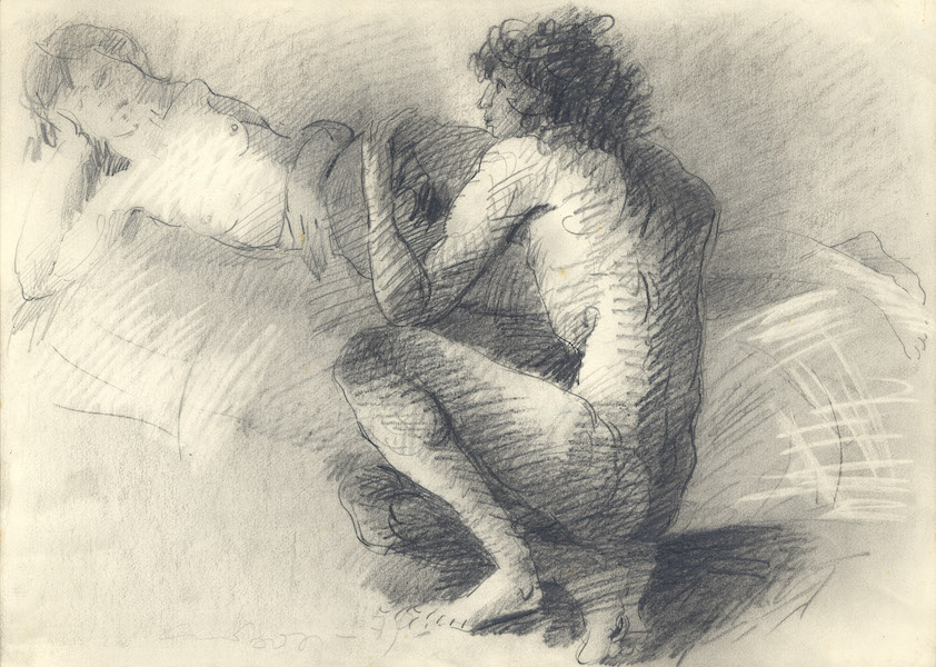 Donato e Alda - 1979 Crayon sur papier -  46 x 32 cm Réf. : borgini020