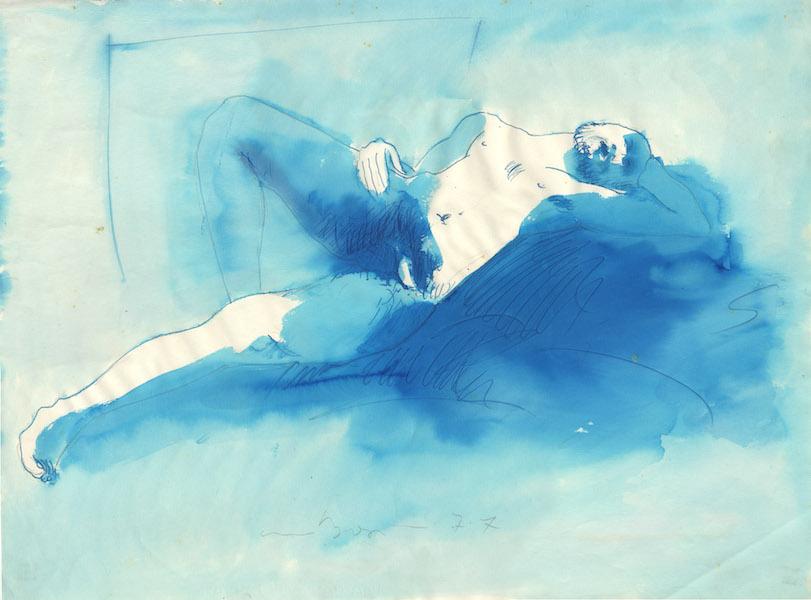 Donato - 1977 Aquarelle sur papier -  76 x 56 cm Réf. : borgini026