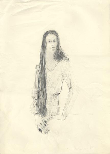 Marzia - 1975 Crayon sur papier -  50 x 70 cm Réf. : borgini028