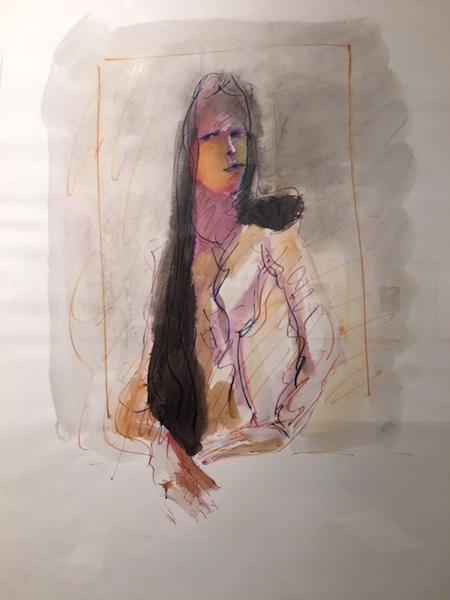 Marzia - 1975 Aquarelle sur papier -  50 x 70 cm Réf. : borgini029
