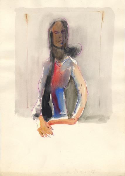 Marzia - 1975 Aquarelle sur papier -  50 x 70 cm Réf. : borgini030