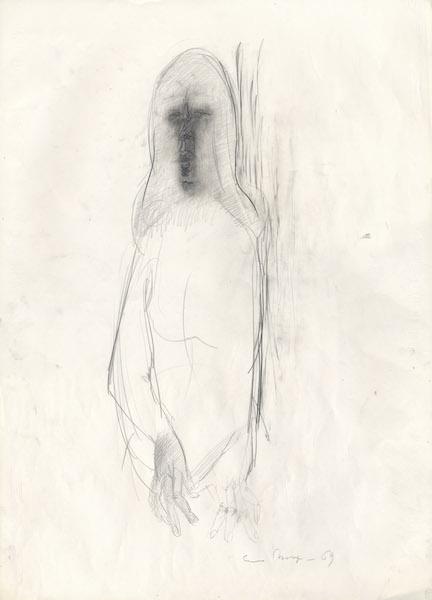Marzia - 1969 Crayon sur papier -  50 x 70 cm Réf. : borgini031