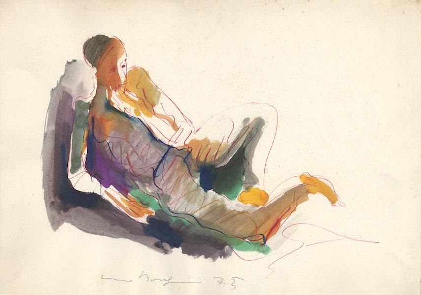 Donato - 1975 Aquarelle sur papier -  70 x 50 cm Réf. : borgini033