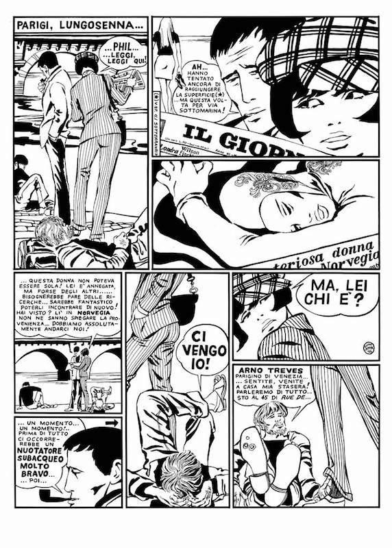 La discesa, 1966 - Page 2 Encre de Chine sur papier 40 cm x 50 Réf. : crepax001