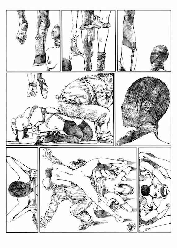 Lanterna Magica, 1976/ 77 - Page 61 Encre de Chine sur papier 40 cm x 50 Réf. : crepax012
