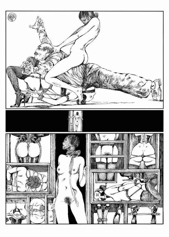 Lanterna Magica, 1976/ 77 - Page 62 Encre de Chine sur papier 40 cm x 50 Réf. : crepax013