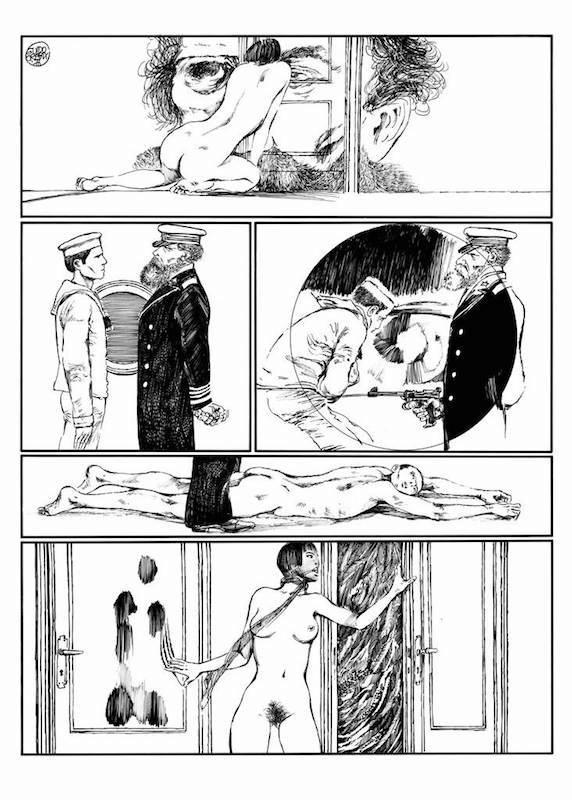 Lanterna Magica, 1976/ 77 - Page 67 Encre de Chine sur papier 40 cm x 50 Réf. : crepax014