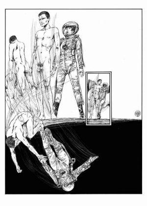 Lanterna Magica, 1976/ 77 - Page 95 Encre de Chine sur papier 40 cm x 50 Réf. : crepax016