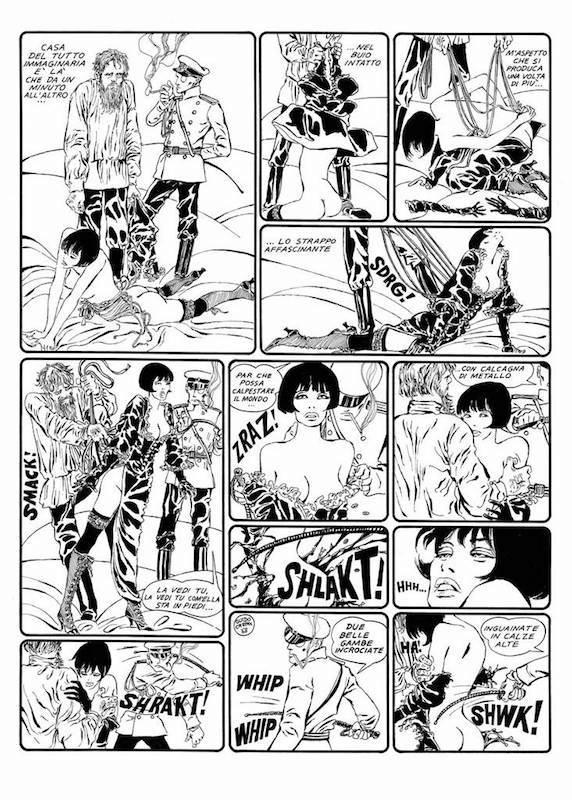 Valentina perduta nel paese dei Sovieti, 1968 - Page 8 - Encre de Chine sur papier - 40 cm x 50 Réf. : crepax022