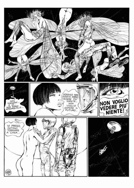 Riflesso, 1974 - Page 32 Encre de Chine sur papier 40 cm x 50 Réf. : crepax033