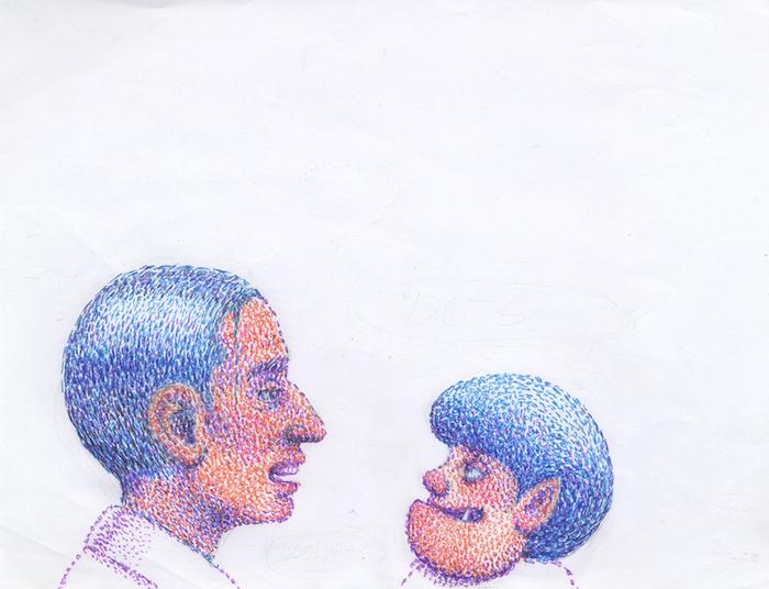 bic sur papier 28 cm x 21 cm Réf. : ferris017