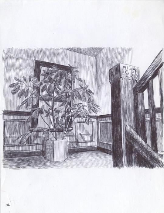 bic sur papier 21 x 28 cm Réf. : ferris058