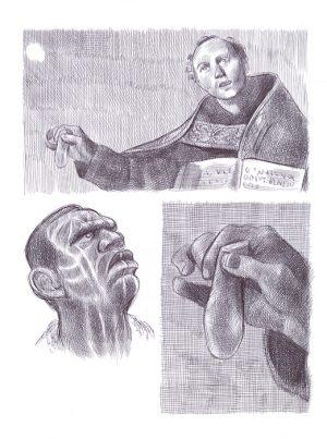 bic sur papier 21 x 28 cm Réf. : ferris071