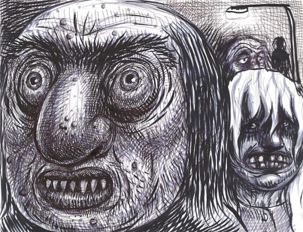 bic sur papier 27 x 21 cm Réf. : ferris098