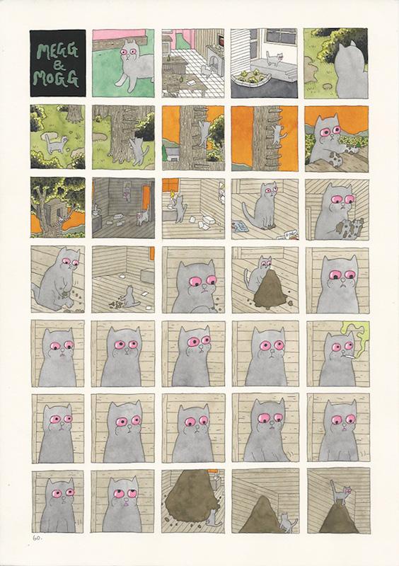 Megg & Mogg in Amsterdam, Mogg's Dream, 2009 p. 60-63 (4 pages) technique mixte sur papier - 21 x 29 cm Réf. : hanselmann-002(1)
