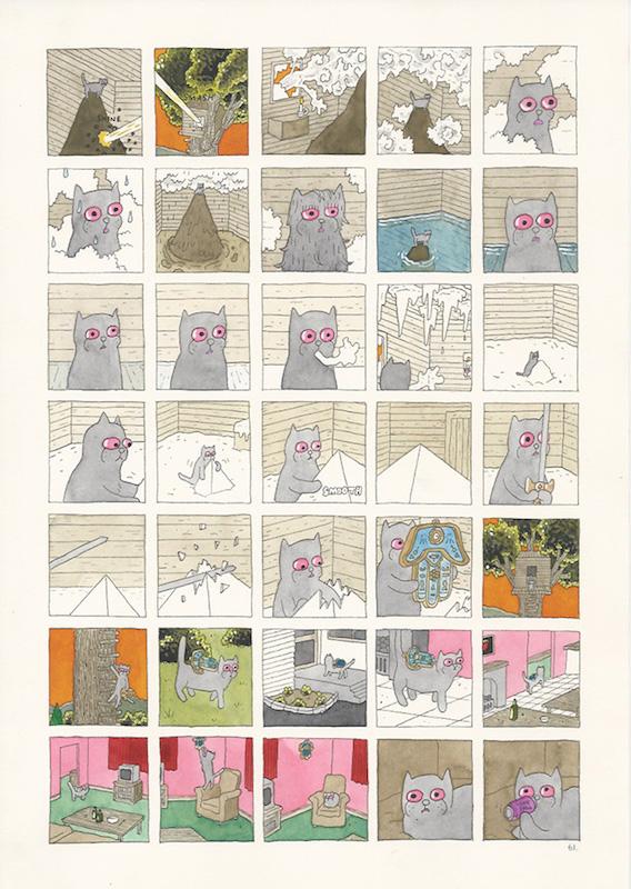 Megg & Mogg in Amsterdam, Mogg's Dream, 2009 p. 60-63 (4 pages) technique mixte sur papier - 21 x 29 cm Réf. : hanselmann-002(2)