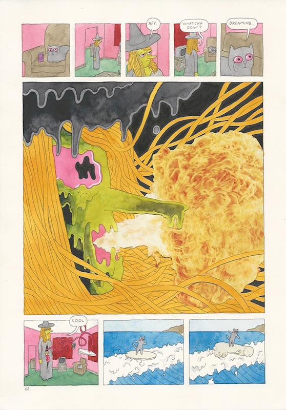 Megg & Mogg in Amsterdam, Mogg's Dream, 2009 p. 60-63 (4 pages) technique mixte sur papier - 21 x 29 cm Réf. : hanselmann-002(3)
